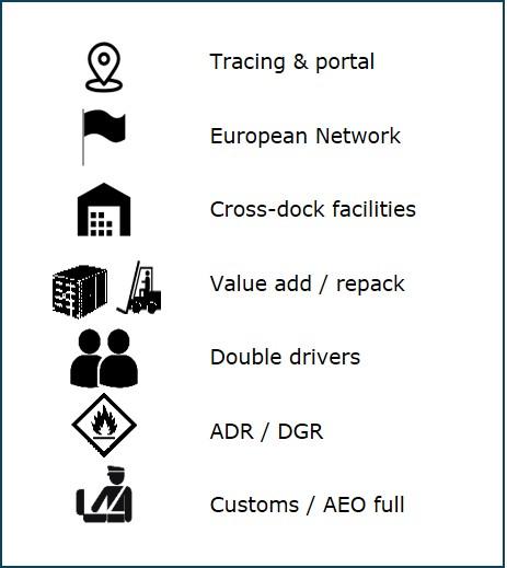 De services van Jan de Rijk Logistics