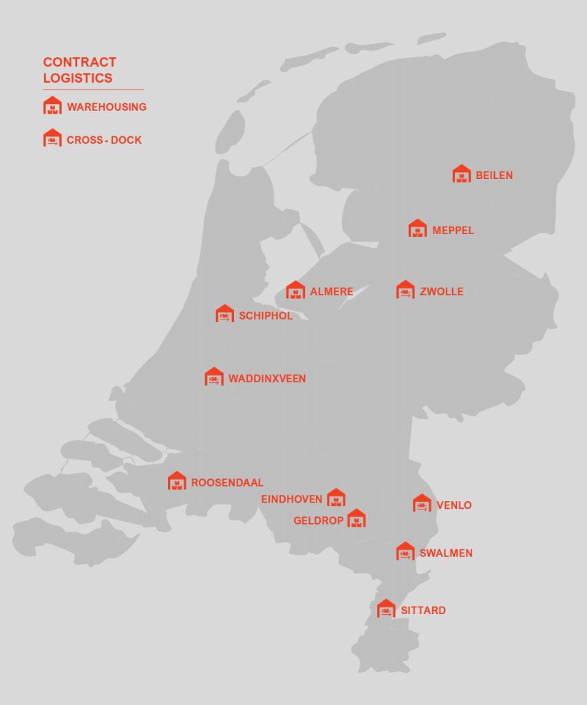 Jan de Rijk Contract Logistics Footprint